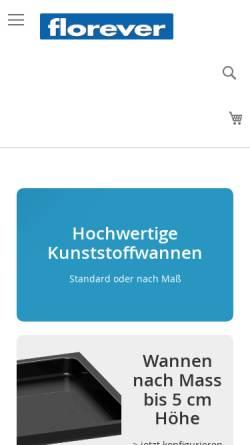 Vorschau der mobilen Webseite www.florever.at, Florever Europe GmbH