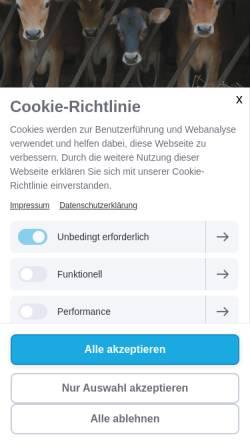 Vorschau der mobilen Webseite www.handbuchzurstallapotheke.ch, Handbuch zur Homöopathischen Stallapotheke