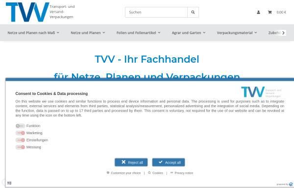 Vorschau von www.tvv-verpackungen.de, TVV Transport- und Versand- Verpackungen e.K.
