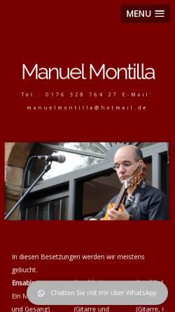 Vorschau der mobilen Webseite www.manuel-montilla.de, Montilla Manuel