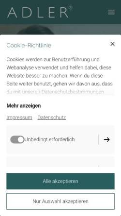Vorschau der mobilen Webseite www.rene-adler.com, Adler, René
