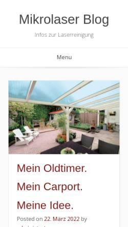 Vorschau der mobilen Webseite www.mikrolaser-teltow.de, Laser Micro Präzision LMP GmbH