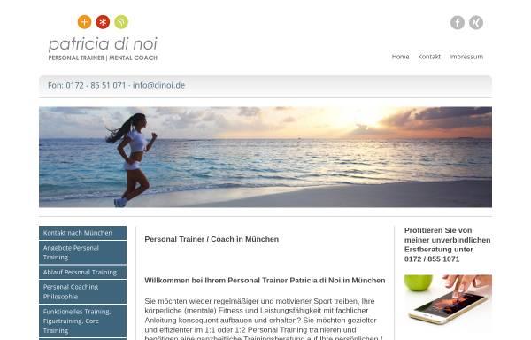 Vorschau von www.patriciadinoi.de, Patricia di Noi - Personal Training & Coaching München