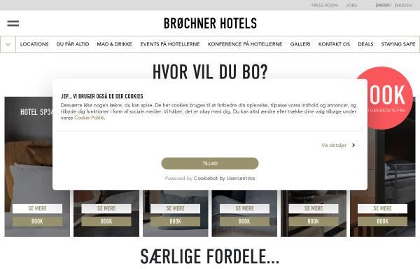 Vorschau von www.brochner-hotels.dk, Brøchner Hotels Dänemark