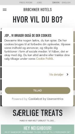 Vorschau der mobilen Webseite www.brochner-hotels.dk, Brøchner Hotels Dänemark