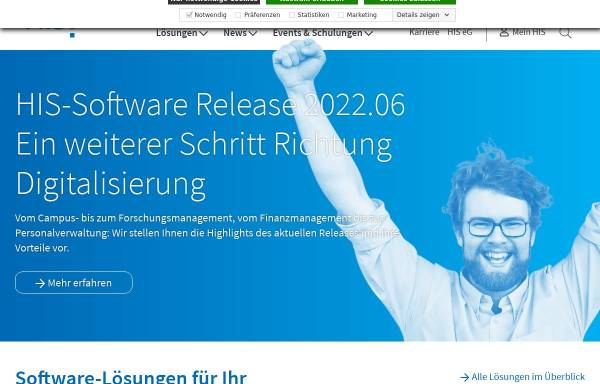 Vorschau von www.his.de, Hochschul-Informations-System GmbH (HIS)
