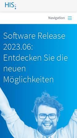 Vorschau der mobilen Webseite www.his.de, Hochschul-Informations-System GmbH (HIS)