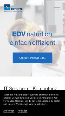 Vorschau der mobilen Webseite www.amcm.de, amcm GmbH