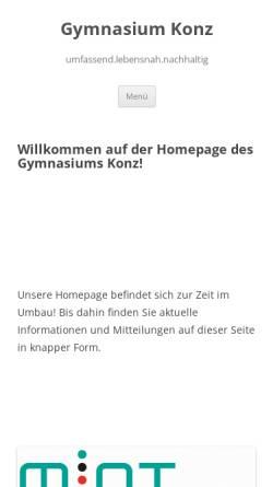 Vorschau der mobilen Webseite www.gymnasium-konz.de, Gymnasium Konz