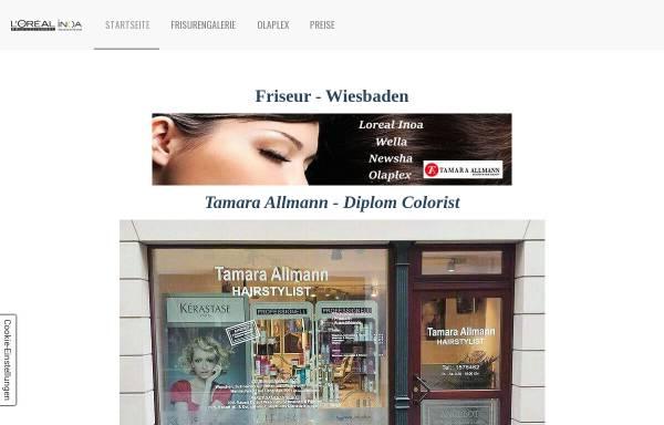 Vorschau von www.tamara-allmann-hairstylist.de, HairStylist – Tamara Allmann