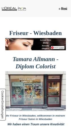Vorschau der mobilen Webseite www.tamara-allmann-hairstylist.de, HairStylist – Tamara Allmann