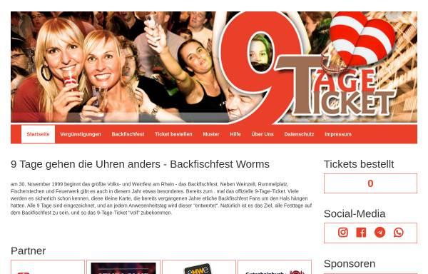 Vorschau von 9tageticket.de, 9-Tage-Ticket zum Backfischfest
