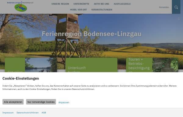 Vorschau von www.bodensee-linzgau.de, Bodensee-Linzgau Tourismus e.V.