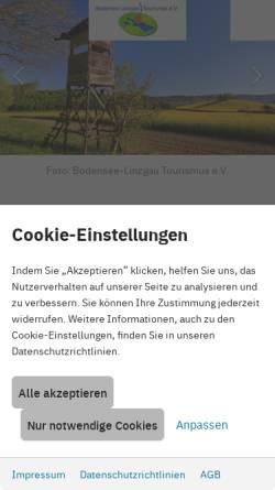 Vorschau der mobilen Webseite www.bodensee-linzgau.de, Bodensee-Linzgau Tourismus e.V.