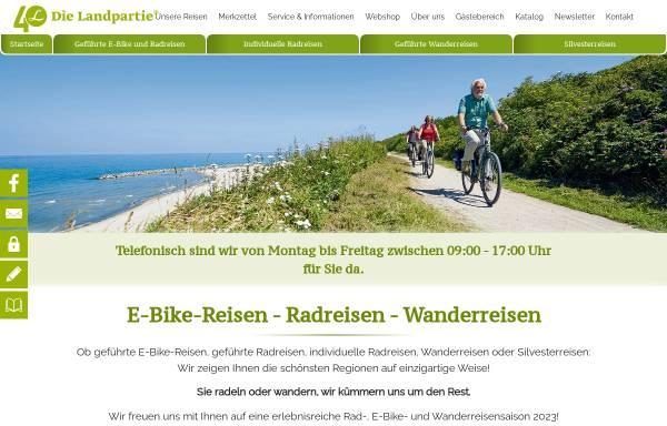 Vorschau von www.dielandpartie.de, Die Landpartie Radeln und Reisen GmbH