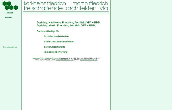 Vorschau von www.architekt-friedrich.com, Friedrich, Karl-Heinz und Martin