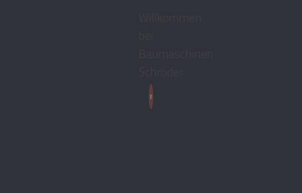 Vorschau von www.bm-schroeder.com, BauMaschinen Schröder