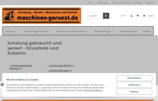 Vorschau von maschinen-geruest.de, MGS GmbH & Co.KG