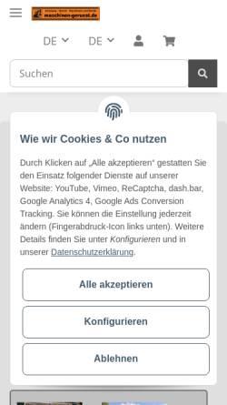 Vorschau der mobilen Webseite maschinen-geruest.de, MGS GmbH & Co.KG
