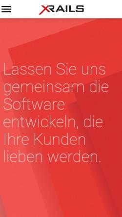 Vorschau der mobilen Webseite www.x-rails.com, Xrails technologies GmbH