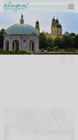 Vorschau der mobilen Webseite www.german-course-germany.de, Alinguas GbR