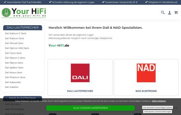 Vorschau von www.yourhifi.de, Your HiFi, Dirk Resing