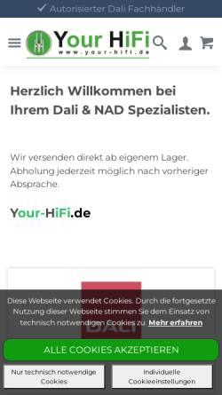 Vorschau der mobilen Webseite www.yourhifi.de, Your HiFi, Dirk Resing