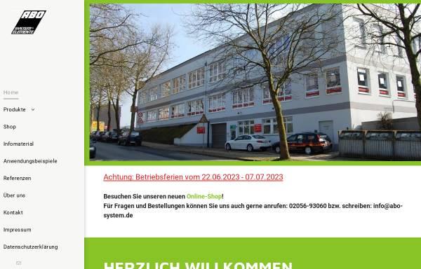 Vorschau von www.abo-system.eu, ABO System-Elemente GmbH