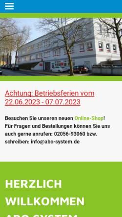 Vorschau der mobilen Webseite www.abo-system.eu, ABO System-Elemente GmbH