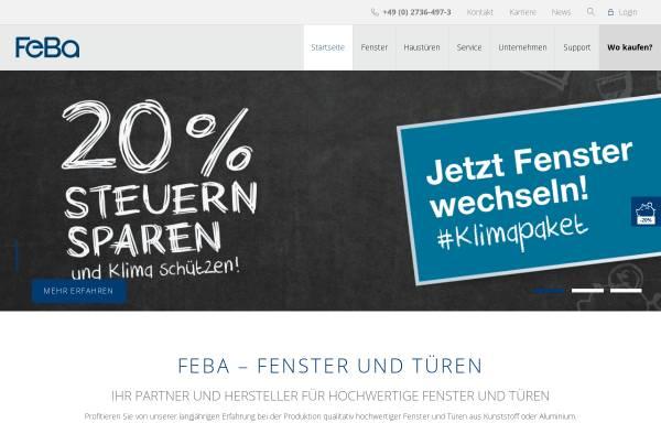 Vorschau von www.feba.de, FeBa Fensterbau GmbH