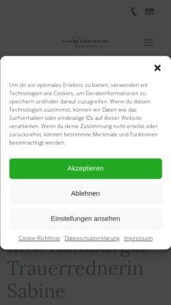 Vorschau der mobilen Webseite worte-lindern.de, Sabine Zimmermann