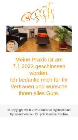 Vorschau der mobilen Webseite www.dr-gericke-pischke.de, Dr. phil. Gericke-Pischke
