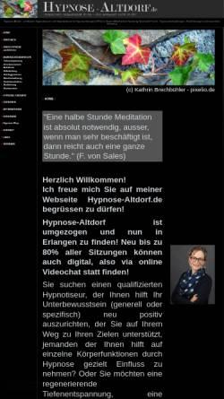Vorschau der mobilen Webseite hypnose-altdorf.de, Stefanie Weigle