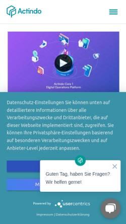 Vorschau der mobilen Webseite www.actindo.de, Actindo GmbH