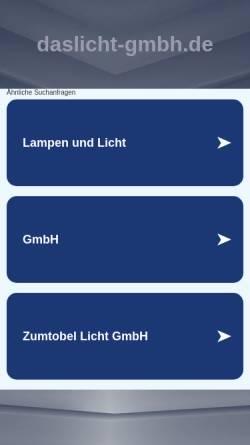Vorschau der mobilen Webseite www.daslicht-gmbh.de, Das Licht GmbH