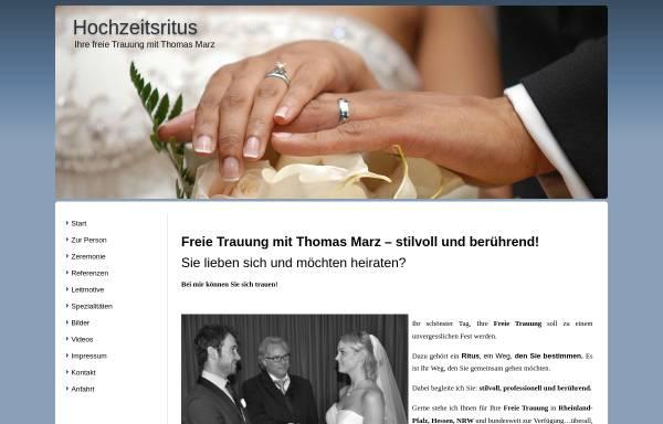 Vorschau von www.hochzeitsritus.de, Hochzeitsritus Thomas Marz
