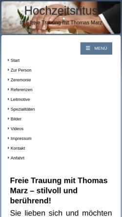 Vorschau der mobilen Webseite www.hochzeitsritus.de, Hochzeitsritus Thomas Marz