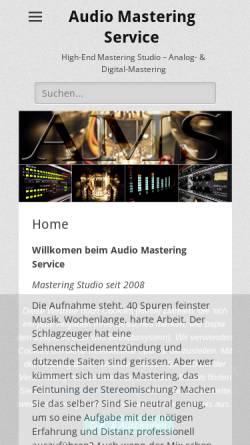 Vorschau der mobilen Webseite www.audio-mastering-service.de, Audio Mastering Service