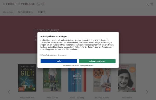 Vorschau von www.fischerverlage.de, Thomas Mann im Fischer Verlag