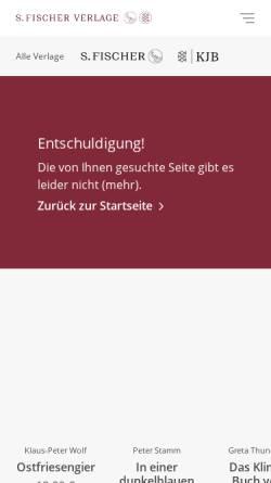Vorschau der mobilen Webseite www.fischerverlage.de, Thomas Mann im Fischer Verlag