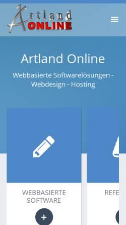 Vorschau der mobilen Webseite www.artland-online.de, Artland Online
