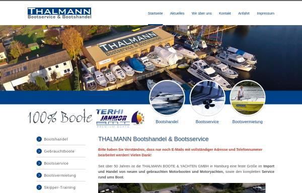 Vorschau von www.thalmann-boote.de, Thalmann Boote und Yachten