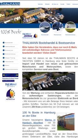Vorschau der mobilen Webseite www.thalmann-boote.de, Thalmann Boote und Yachten