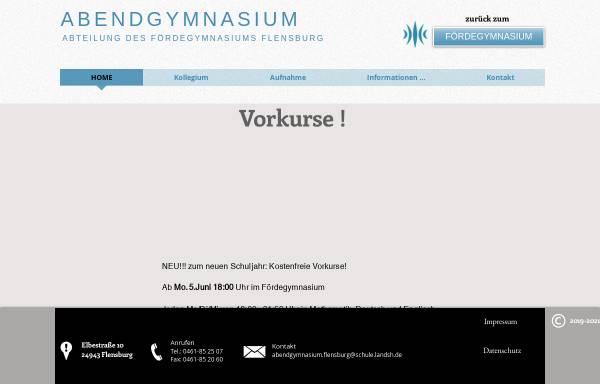 Vorschau von www.abendgymnasium-flensburg.de, Abendgymnasium Flensburg