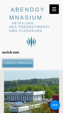 Vorschau der mobilen Webseite www.abendgymnasium-flensburg.de, Abendgymnasium Flensburg