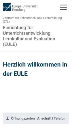 Vorschau der mobilen Webseite www.eule-flensburg.de, EULE Flensburg