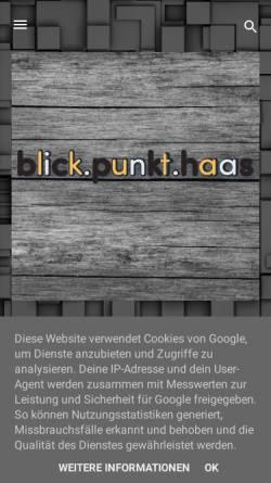Vorschau der mobilen Webseite www.patrick-haas.de, Memo-lab