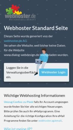 Vorschau der mobilen Webseite www.dialog-webdesign.de, Dialog WebDesign GmbH