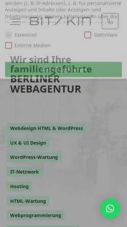 Vorschau der mobilen Webseite www.bitskin.de, Bitskin GmbH