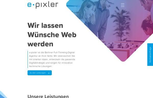 Vorschau von www.e-pixler.de, e-pixler New Media GmbH